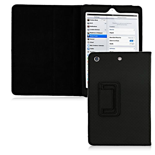 PU Leather Smart Case for iPad Mini - Black #blackfriday #discount #smartcase #leathercase #ipadmini #cellz.com $7.99