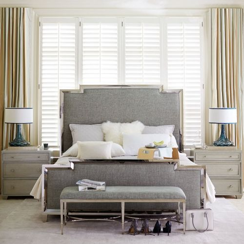 Metal Upholstered Panel Bed | Bernhardt