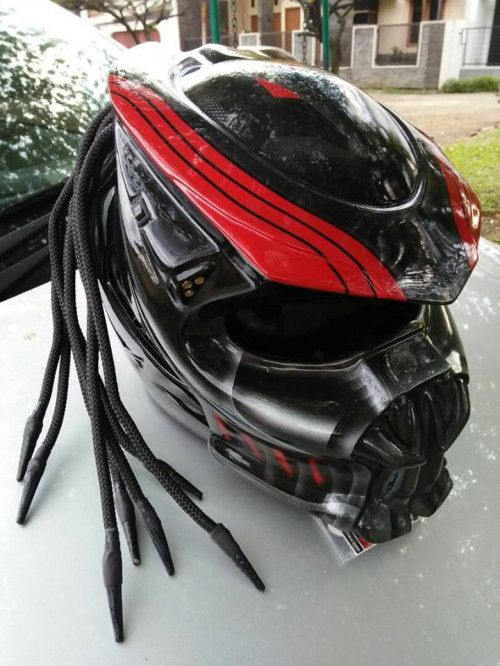 CELLOS Custom New Predator Motorcycle DOT Approved Helmet