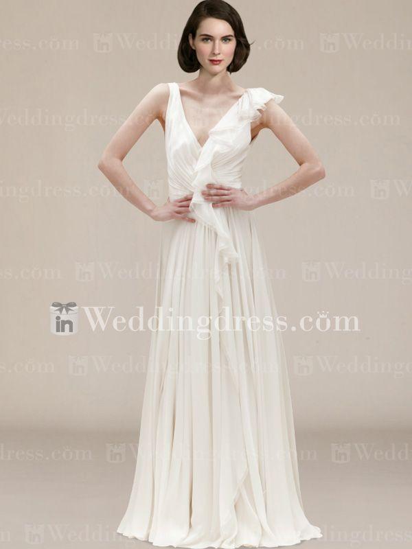 Beach wedding dresses casual not white