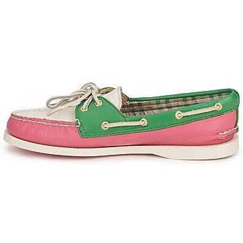 La tendance chaussures bateau est de rigueur cette saison... Sperry Top-Sider AO 2-EYE Vert / Rose / Blanc http://www.spartoo.com/Sperry-Top-Sider-AO-2-EYE-x202897.php