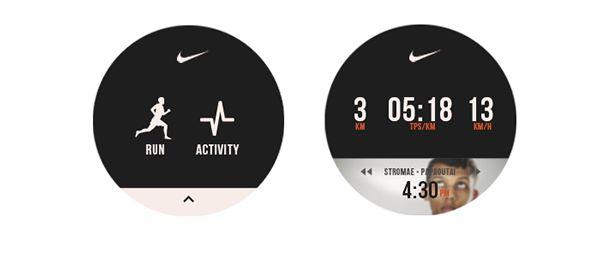 Nike Running App - Motorola 360 on Behance