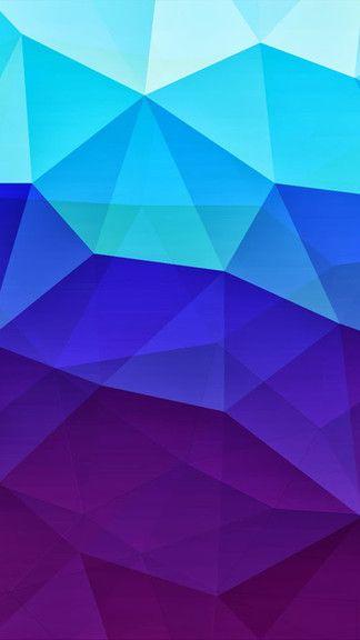Gradient Blue Polygons iPhone 5C / 5S wallpaper