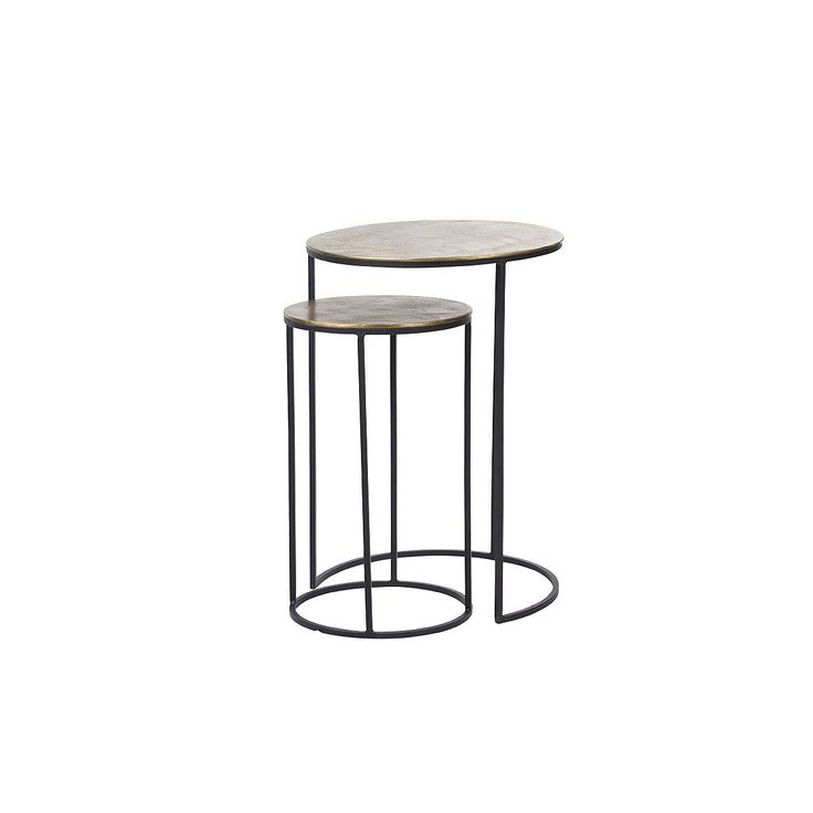 Side & Console Tables, forge nest side tables - 2pc
