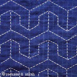 sashiko tutorial: hexagon. Lots of different embroideri tutorials on ths site.