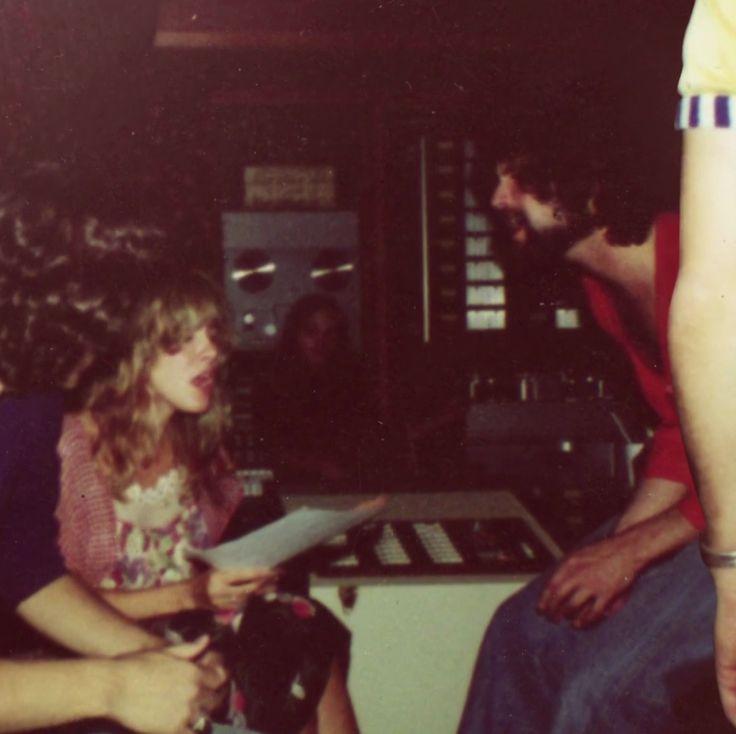 Stevie Nicks and Lindsey Buckingham in studio