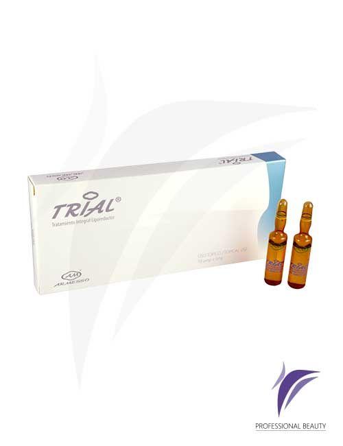 TRIAL Caja x10 ampolletas de 5ml: El Trial es un tratamiento reductor de triple acción, que elimina y previene la acumulación de grasa en el cuerpo.