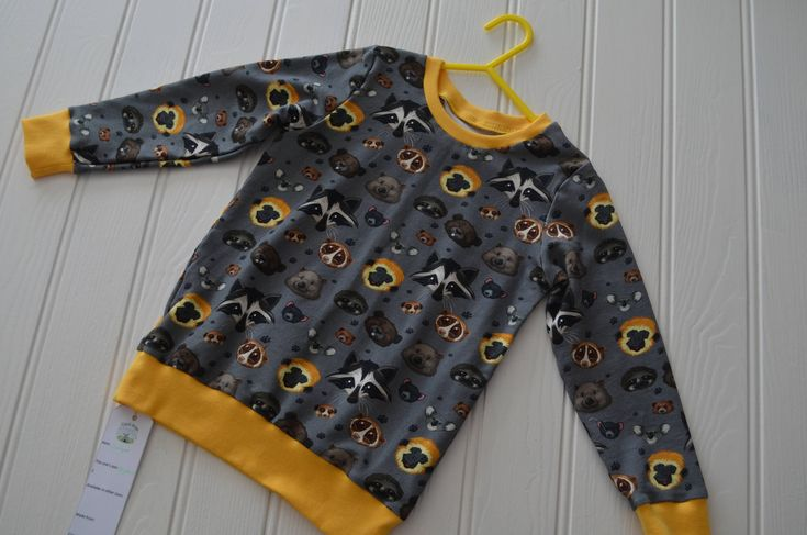 Animal Face sweatshirt, 3 year old jumper, 3rd birthday gift, unisex sweater, boys jumper, toddler girls pullover, baby sweater by BobtailsBoutique on Etsy