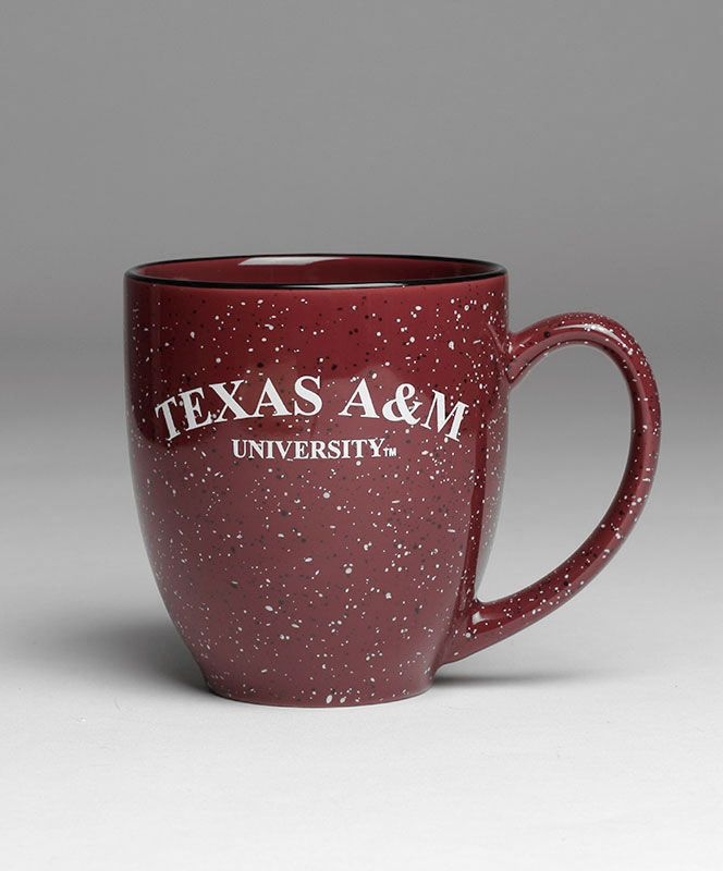 This one of a kind bistro speckled mug features Texas A&M University on both sides! Available EXCLUSIVELY at Aggieland Outfitters!