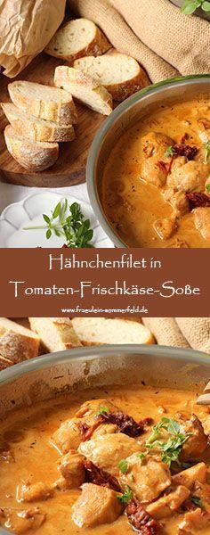 Hähnchenfilets in Tomaten-Frischkäse-Soße | Fräulein Sommerfeld Foodblog www.fraeulein-sommerfeld.de – Maike Modzel