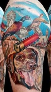 Colorful Hunting Tattoo