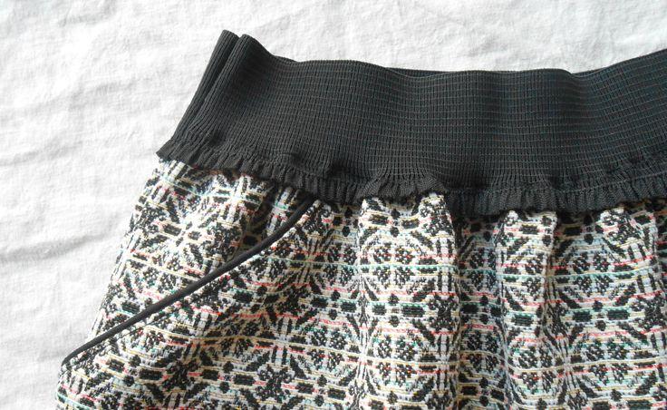 tuto jupe à poches passepoilées