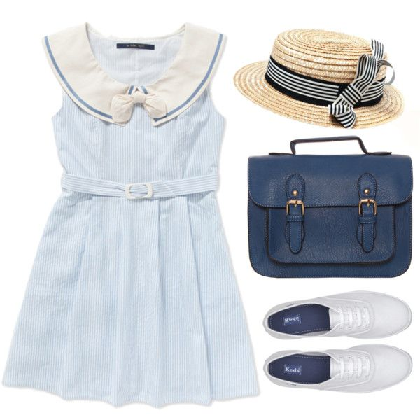 Sailor Blue by sweetpastelady on Polyvore featuring moda, Keds, Sailor and Nautical