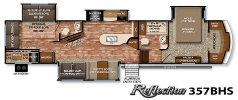 Reflection Fifth-Wheel Specifications | Grand Design RV. Dream kitchen! 1' too long...