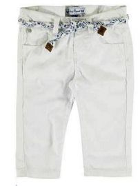 x: White Twill Trousers with belt 9m only