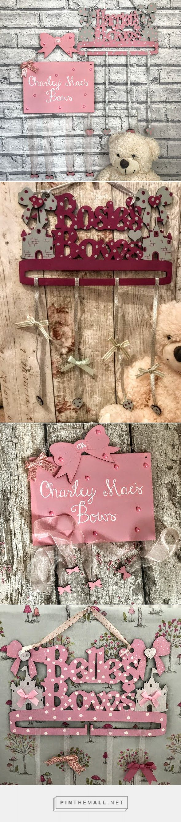 Personalised bow holder Bow organiser Bow tidy Hair clip organiser Personalised hair bow holder Girls hair clip and bow organiser Clip organiser