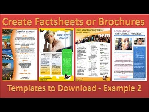 Make Brochure - How to Make Brochures in Microsoft PowerPoint 2010 - Single Page Example 4 - YouTube