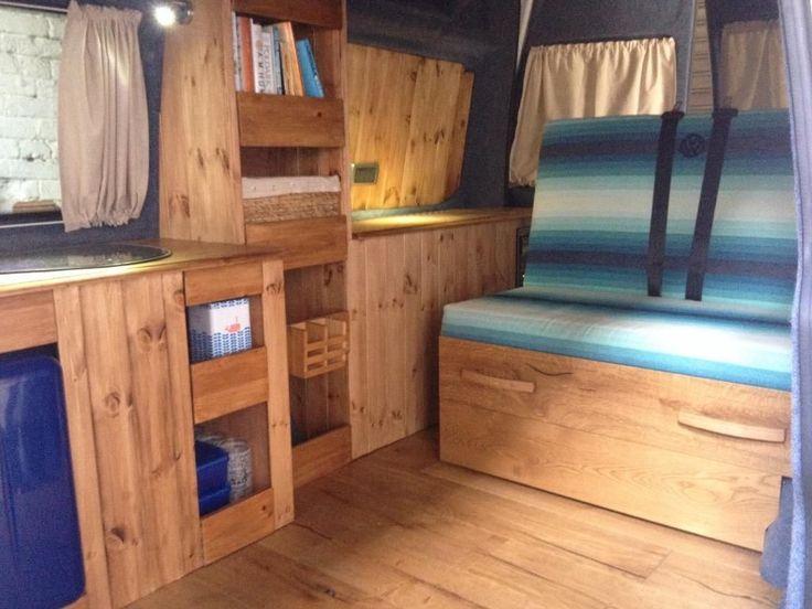 VW Transporter Campervan T5, LWB T30 TDI, Sleeps 4, Mint condition with brand new interior (Swansea) | Campervans & Caravans