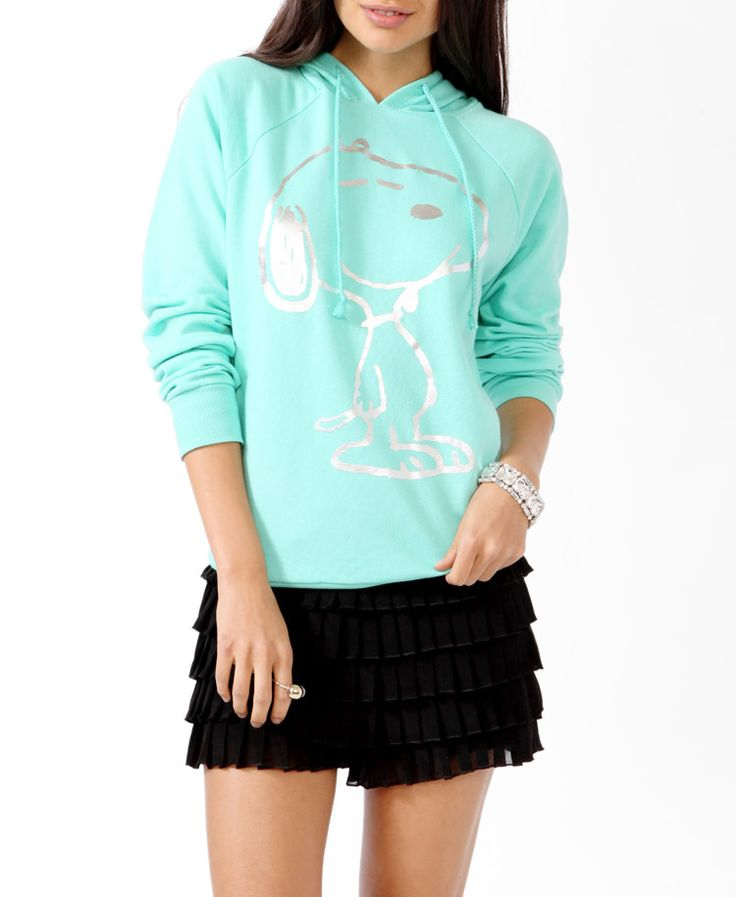 Metallic Snoopy Pullover Hoodie | FOREVER21 - 2018218340 size small.   I want new comfy clothes really bad