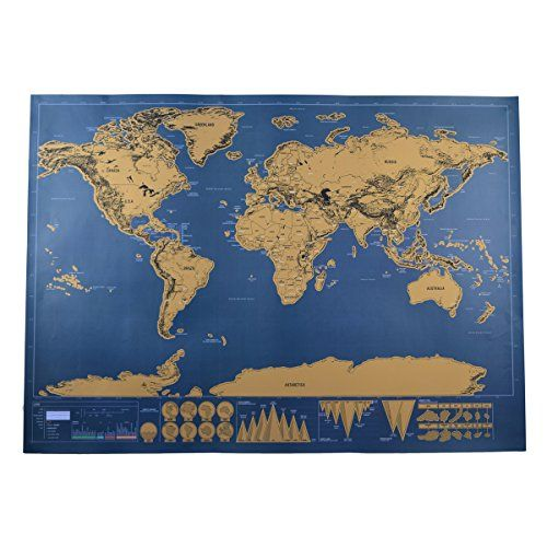 20 best Scratch map images on Pinterest Cards, Scratch off and - new world map cad free