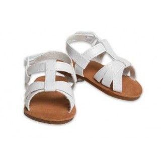 Criss Cross Sandles: White sandals to go with all your summer outfits!