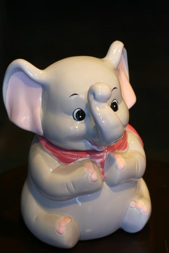 Cute dumbo style elephant cookie jar jars cookie jars and tyxgb76aj this - Vintage elephant cookie jar ...