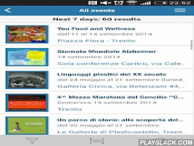 "Trento - City In Your Pocket  Android App - playslack.com , A BRAND NEW START FOR ""TRENTO - THE CITY IN YOUR POCKET""! ""Trento - The City in Your Pocket"", the official app of the Municipality of Trento, renovates completely, presenting a new look, with a more intuitive user interaction, and with a faster and more dynamic content update mode, that allows to always show up-to-date information and provide services tailored to the needs of the user. The current version is aimed primarily at…"