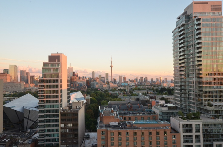 Sunset view from our flagship location at 20 Prince Arthur, Toronto