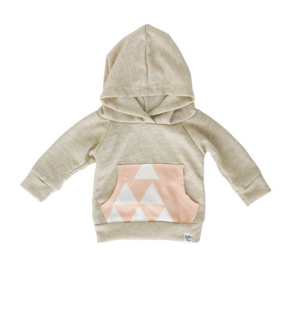 Hey, I found this really awesome Etsy listing at https://www.etsy.com/listing/208267397/oatmeal-baby-hoodie-pink-triangle-hoodie