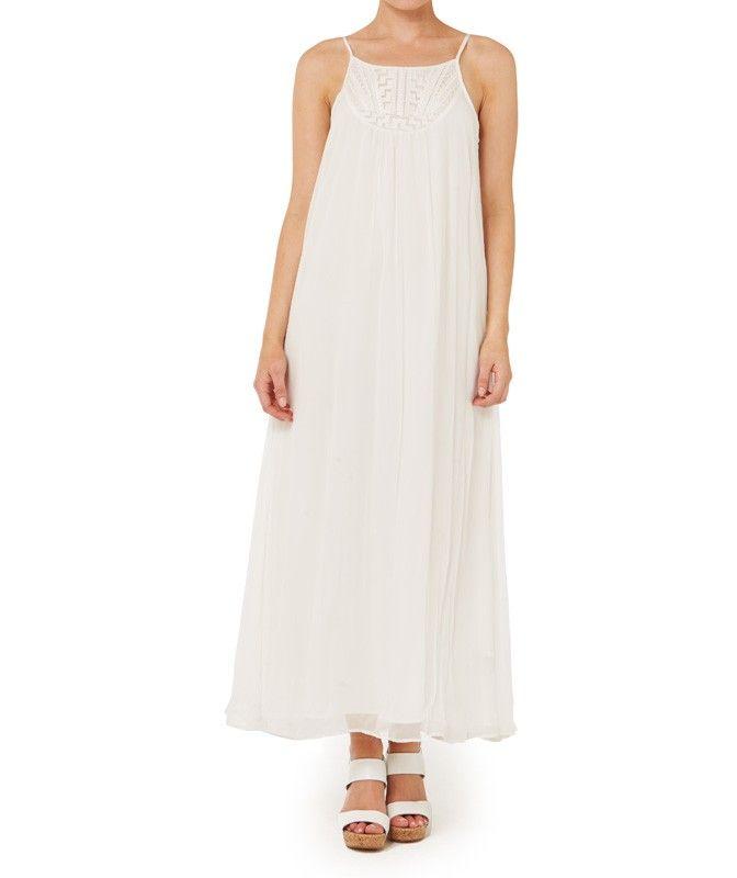 EMBROIDERED FRONT MAXI DRESS-Desert Dusk