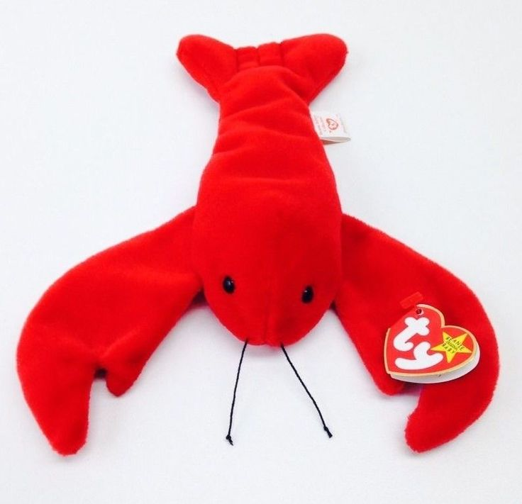 Ty Beanie Babies Pinchers the Lobster June 19th 1993 P.E. Pellets Rare Orig 9 #Ty