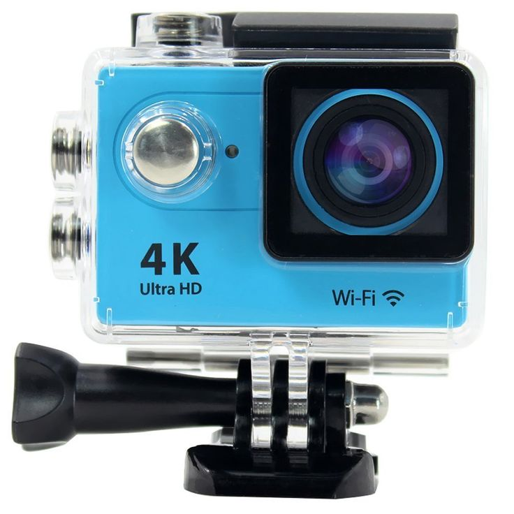 RioRand® H9 2.0 Inch 170 Degree 6g Ultra-wide Angle Lens 4k Ultra-hd 30-meter Waterproof Wi-fi Sports Diving Camera, with Gopro-style Waterproof Housing & Gopro-style User Interface (Blue). With different Accessories, it is a perfect mate to enjoy your wonderful time for vehicle data recording, photo-shooting, outdoor sports, home security, deep-water probing, etc. 2-Inch TFT LCD,12.0 Megapixels,6G HD 170° Ultra-wide Fish-eye Lens,4K Ultra-hd definition. Wi-fi remote control;Gopro-style...