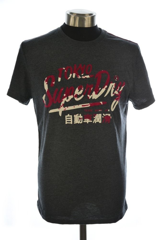 New Mens Superdry Factory Second Ticket Type T-shirt Large Midnight Marl  006801 in Clothes, Shoes & Accessories, Men's Clothing, T-Shirts