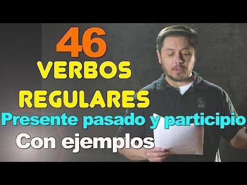 46 verbos regulares del uso diario ( que terminan en ED ) - YouTube