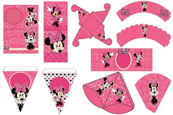 set Imprimible De Minnie Mouse Rosada 90 Plantillas Cnv13 - Maracaibo - Zulia - Niños - Bebés