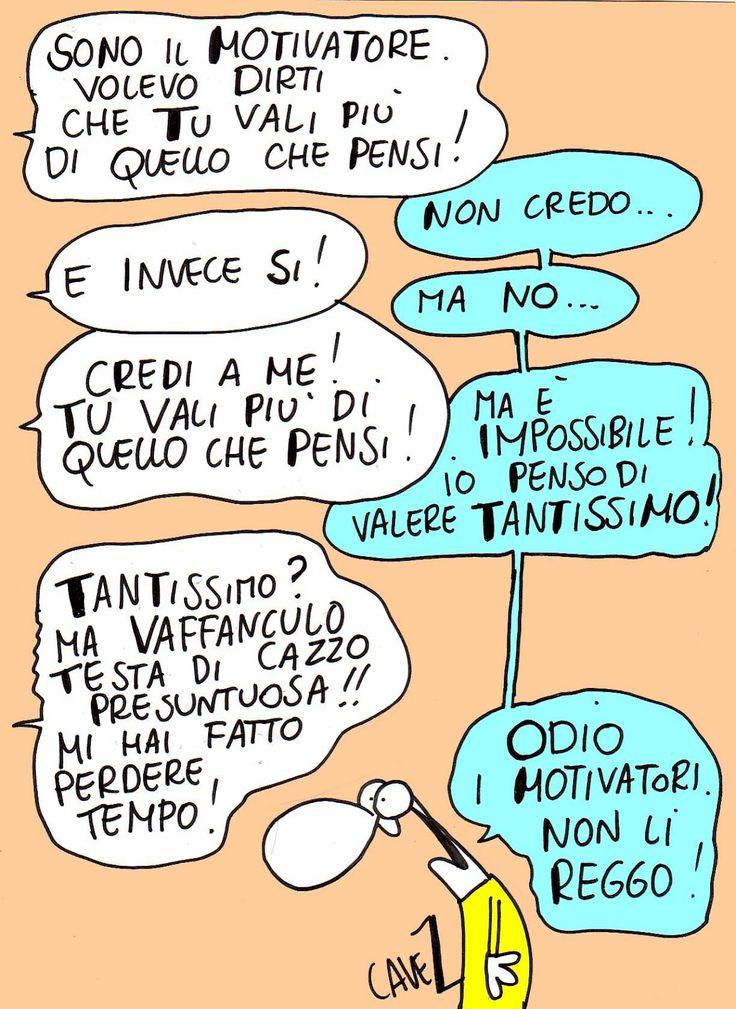 #Vignetta di Massimo #Cavezzali - Il motivatore