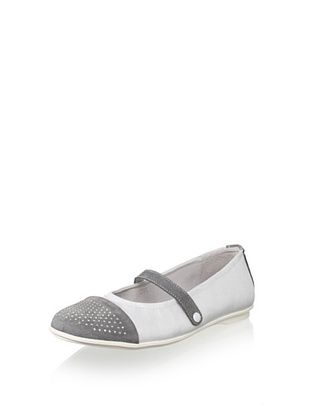50% OFF endins Kid's Studded-Toe Mary Jane (White)