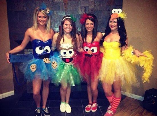 Halloween Costume Ideas — Girlfriends Sesame Street Tutu Costumes