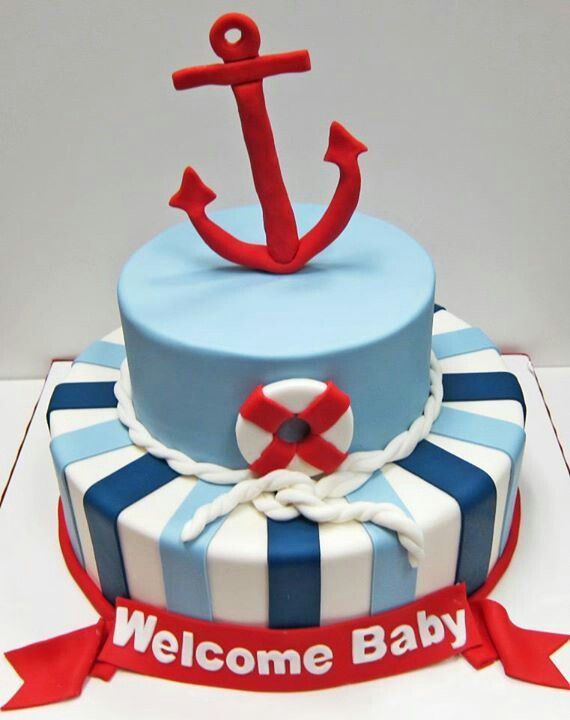 nautical baby shower cake ideas