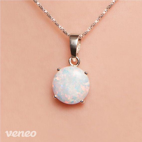 Diana 12. Handmade Opal Pendant by Veneo on Etsy