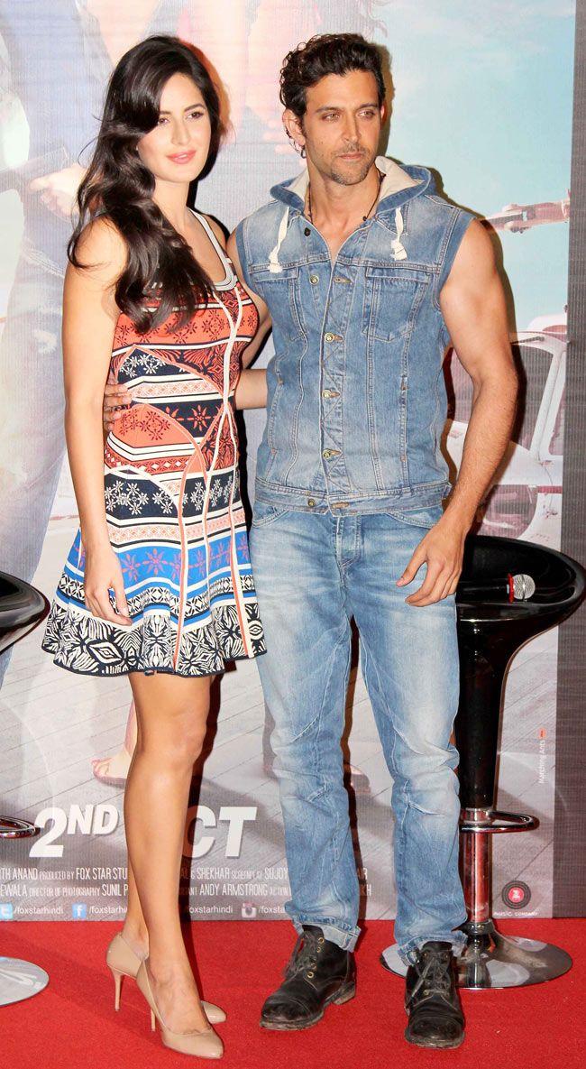 Hrithik Roshan and Katrina Kaif at the launch of 'Bang Bang' title track.