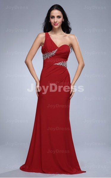 red gown dresses  ,Sequin Sheath One Shoulder Floor-length Dress,