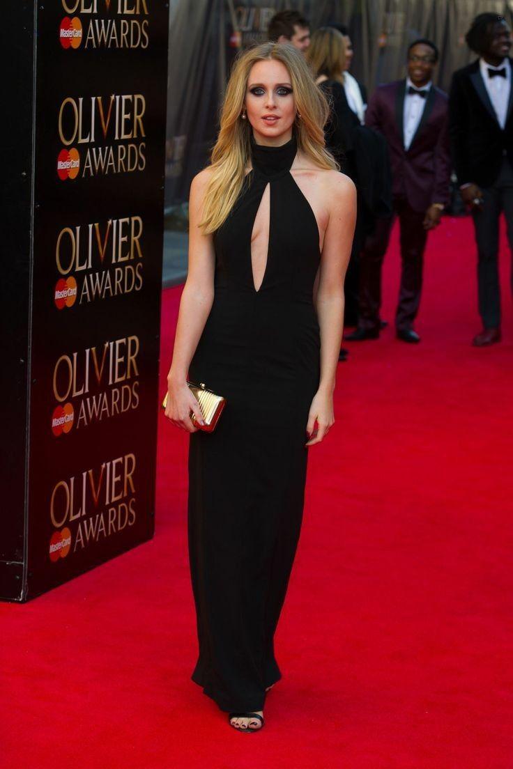 Diana Vickers.. AQ/AQ Pre-Spring 2014 Richie Black Halterneck Maxi Dress - Gothic chic..... - Celebrity Fashion Trends