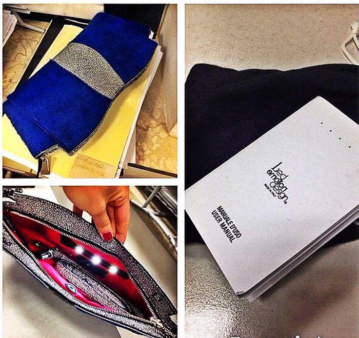 """Oh yes, i can shine everything with my #Sunset #LED!"" #pochette #handbags"