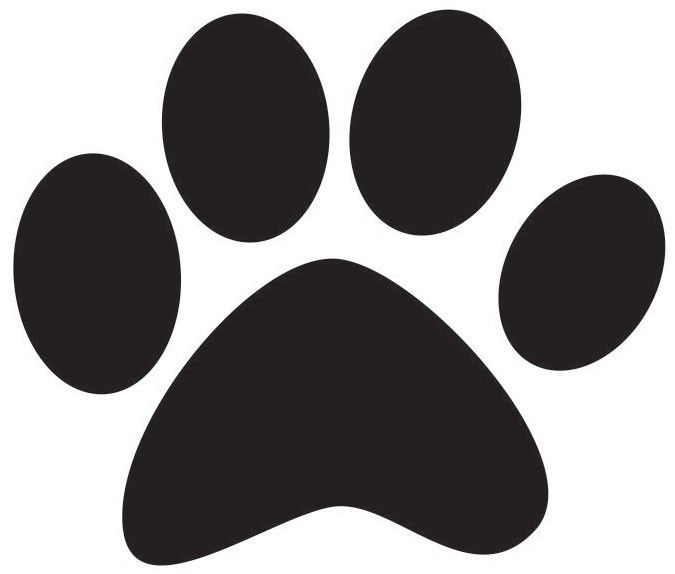 Baby room ideas of bulldog s dog paw stencil for Tiger paw template
