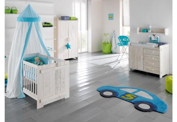 Babykamer blauw/wit
