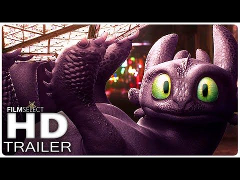 HOW TO TRAIN YOUR DRAGON 3: All NEW Trailers + Clips (2019