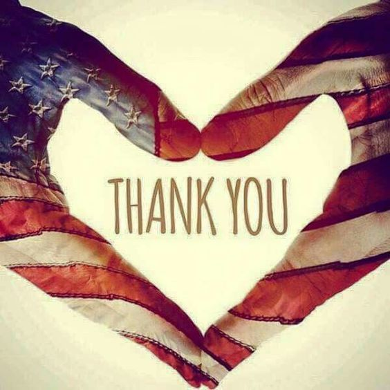 With gratitude and pride I thank all who have served and died for our country and freedom.