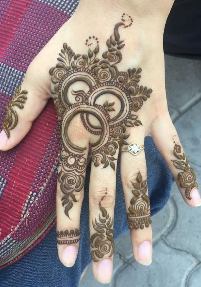 easy mehndi arabic stylish modern mehndi design