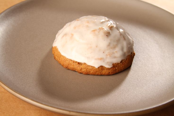 Our Iced Pumpkin Cookie has a hint of nutmeg and a lot of pumpkin, and always reminds us of fall. www.citybaking.com